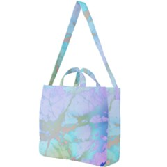Iridescent Marble Square Shoulder Tote Bag by tarastyle