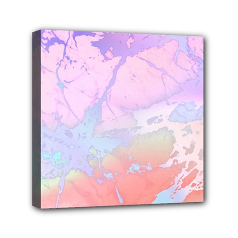 Iridescent Marble Mini Canvas 6  X 6  (stretched)