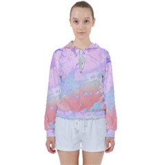 Iridescent Marble Women s Tie Up Sweat by tarastyle