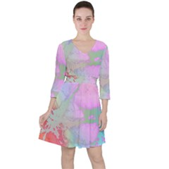 Iridescent Marble Ruffle Dress by tarastyle