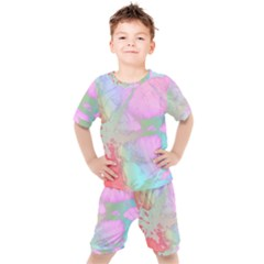 Iridescent Marble Kids  Tee And Shorts Set by tarastyle