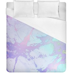 Iridescent Marble Duvet Cover (california King Size) by tarastyle