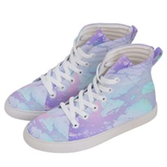 Iridescent Marble Women s Hi Top Skate Sneakers by tarastyle
