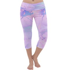 Iridescent Marble Capri Yoga Leggings by tarastyle