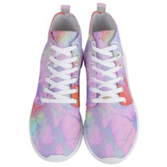 Iridescent Marble Men s Lightweight High Top Sneakers by tarastyle