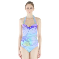 Iridescent Marble Halter Swimsuit by tarastyle