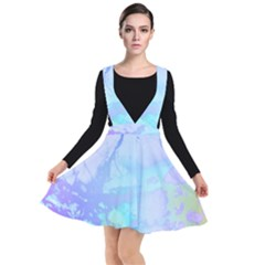 Iridescent Marble Plunge Pinafore Dress