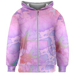 Iridescent Marble Kids  Zipper Hoodie Without Drawstring by tarastyle