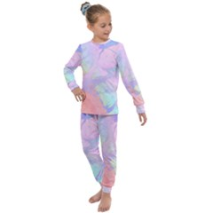 Iridescent Marble Kids  Long Sleeve Set  by tarastyle