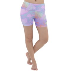 Iridescent Marble Lightweight Velour Yoga Shorts by tarastyle