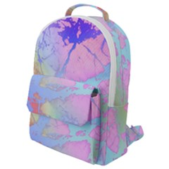 Iridescent Marble Flap Pocket Backpack (small) by tarastyle