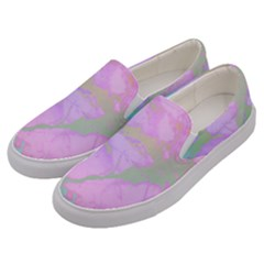 Iridescent Marble Men s Canvas Slip Ons by tarastyle