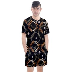 Luxury Chains And Belts Pattern Men s Mesh Tee And Shorts Set by tarastyle