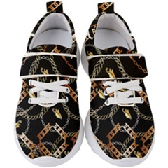 Luxury Chains And Belts Pattern Kids  Velcro Strap Shoes by tarastyle