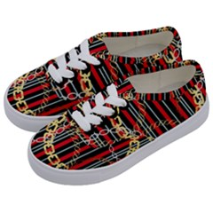 Luxury Chains And Belts Pattern Kids  Classic Low Top Sneakers by tarastyle