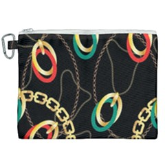 Luxury Chains And Belts Pattern Canvas Cosmetic Bag (xxl)