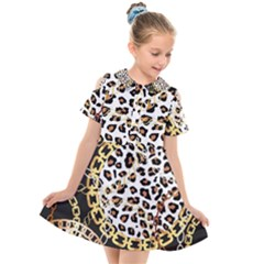 Luxury Chains And Belts Pattern Kids  Short Sleeve Shirt Dress by tarastyle