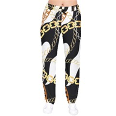 Luxury Chains And Belts Pattern Velvet Drawstring Pants by tarastyle