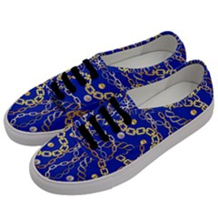 Luxury Chains And Belts Pattern Men s Classic Low Top Sneakers by tarastyle