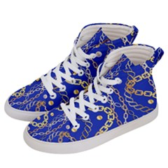 Luxury Chains And Belts Pattern Women s Hi Top Skate Sneakers by tarastyle