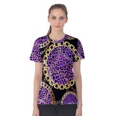 Luxury Chains And Belts Pattern Women s Cotton Tee by tarastyle