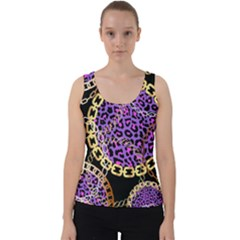 Luxury Chains And Belts Pattern Velvet Tank Top by tarastyle