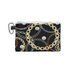 Luxury Chains And Belts Pattern Canvas Cosmetic Bag (small) by tarastyle