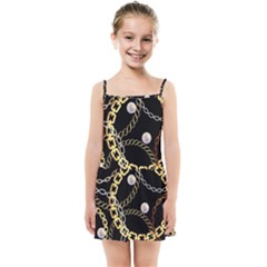 Luxury Chains And Belts Pattern Kids  Summer Sun Dress by tarastyle