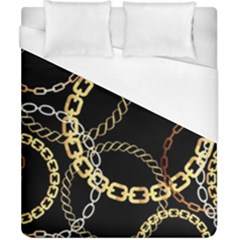 Luxury Chains And Belts Pattern Duvet Cover (california King Size) by tarastyle