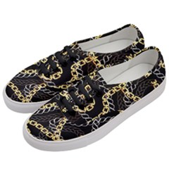 Luxury Chains And Belts Pattern Women s Classic Low Top Sneakers by tarastyle