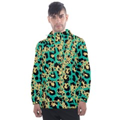 Luxury Chains And Belts Pattern Men s Front Pocket Pullover Windbreaker