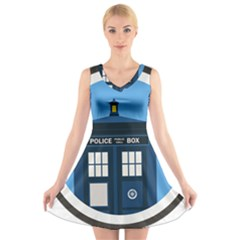 Doctor Who Tardis V Neck Sleeveless Dress