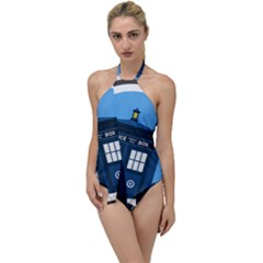 Doctor Who Tardis Go With The Flow One Piece Swimsuit