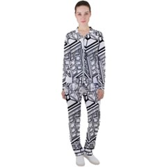Bad Wolf Tardis Art Drawing Doctor Who Casual Jacket And Pants Set