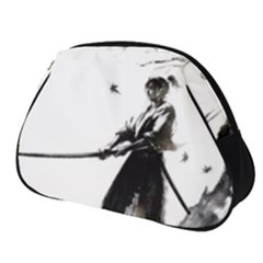 Japan Samurai Drawing   Warrior Full Print Accessory Pouch (small)