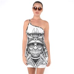 Drawing Samurai Tattoo Sketch Japanese Samurai One Soulder Bodycon Dress by Sudhe