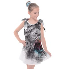 Lion King Head Kids  Tie Up Tunic Dress