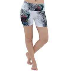 Lion King Head Lightweight Velour Yoga Shorts