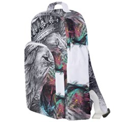 Lion King Head Double Compartment Backpack