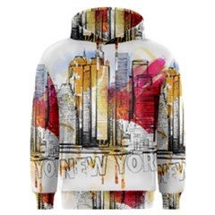New York City Skyline Vector Illustration Men s Overhead Hoodie by Sudhe