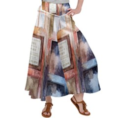 Tardis Doctor Who Transparent Satin Palazzo Pants by Sudhe