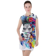 Art Drawing Poster Painting The Lion King Drawstring Hooded Dress by Sudhe