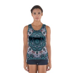 Marbels Glass And Paint Love Mandala Decorative Sport Tank Top  by pepitasart