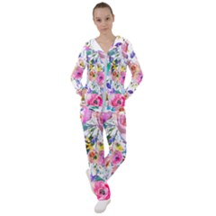 Lovely Pinky Floral Women s Tracksuit by wowclothings