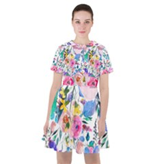 Lovely Pinky Floral Sailor Dress by wowclothings