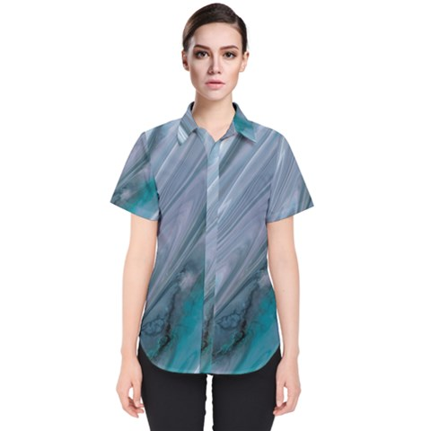Agate Marble Women s Short Sleeve Shirt by tarastyle