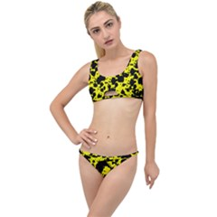 Black And Yellow Leopard Style Paint Splash Funny Pattern  The Little Details Bikini Set by yoursparklingshop