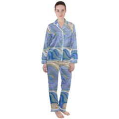 Agate Marble Satin Long Sleeve Pyjamas Set by tarastyle