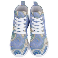 Agate Marble Women s Lightweight High Top Sneakers by tarastyle
