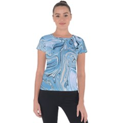 Agate Marble Short Sleeve Sports Top  by tarastyle